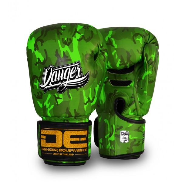 Boxing Gloves - Danger Green Army Edition Kids Boxing Gloves