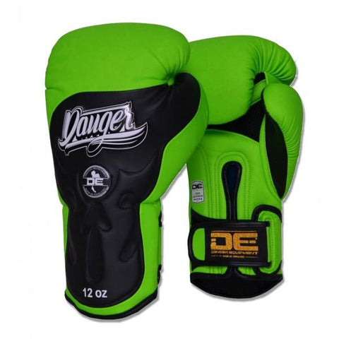 Boxing Gloves - Danger Green / Black Ultimate Fighter Edition Boxing Gloves