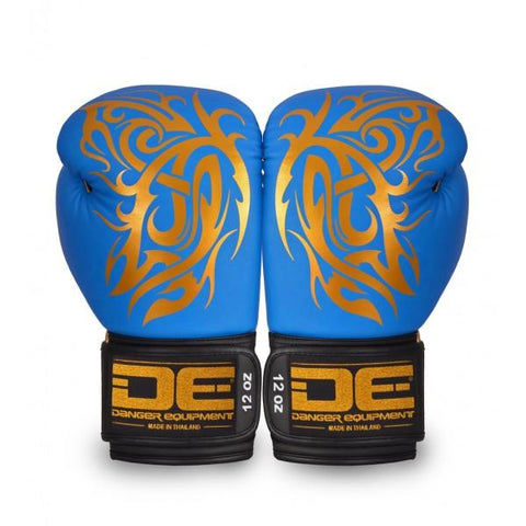 Boxing Gloves - Danger Light Blue / Gold Butterfly Edition Boxing Gloves