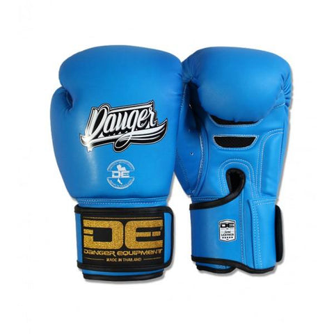 Boxing Gloves - Danger Neon Blue Super Max Edition Kids Boxing Gloves