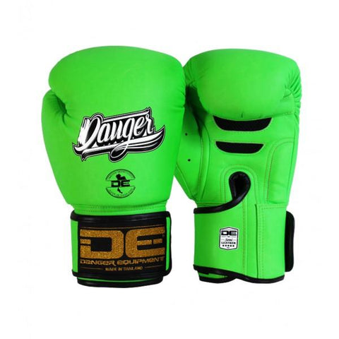 Boxing Gloves - Danger Neon Green Super Max Edition Boxing Gloves