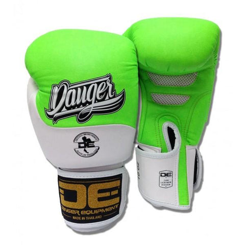 Boxing Gloves - Danger Neon Green / White Evolution Kids Boxing Gloves