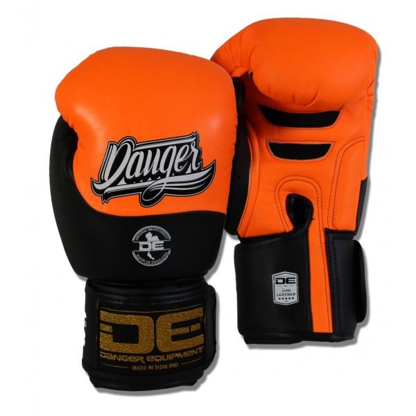 Boxing Gloves - Danger Neon Orange / Black Evolution Boxing Gloves