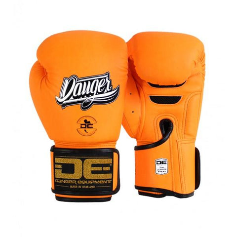 Boxing Gloves - Danger Neon Orange Super Max Edition Boxing Gloves