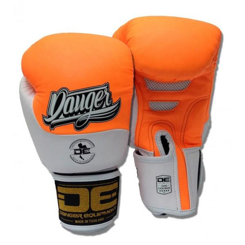 Boxing Gloves - Danger Neon Orange / White Evolution Kids Boxing Gloves