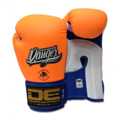 Boxing Gloves - Danger Neon Orange With White Palm Contact Pro Edition Boxing Gloves