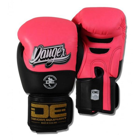 Boxing Gloves - Danger Neon Pink / Black Evolution Boxing Gloves