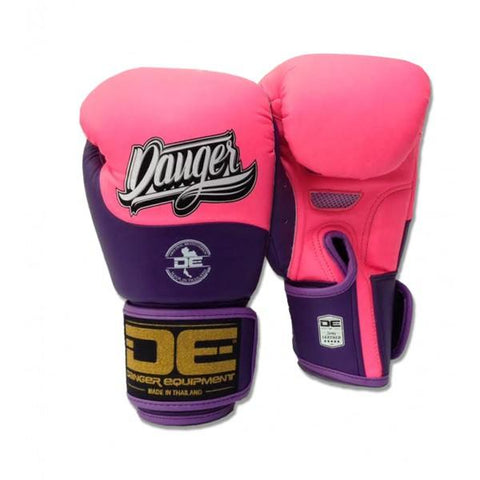 Boxing Gloves - Danger Neon Pink / Purple Evolution Kids Boxing Gloves