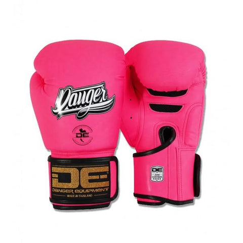 Boxing Gloves - Danger Neon Pink Super Max Edition Kids Boxing Gloves