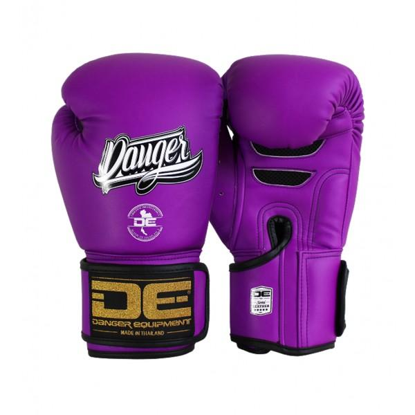 Boxing Gloves - Danger Neon Purple Super Max Edition Kids Boxing Gloves