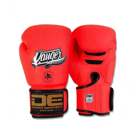 Boxing Gloves - Danger Neon Red Super Max Edition Boxing Gloves