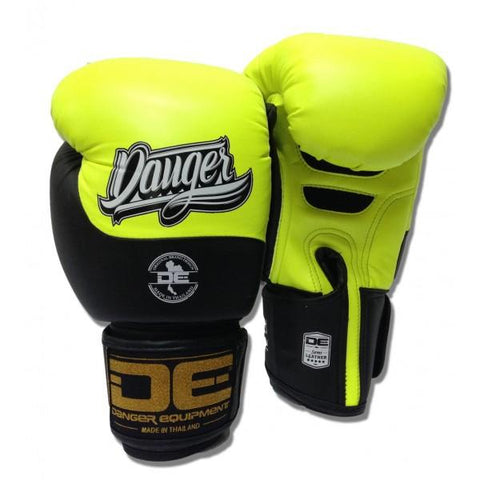 Boxing Gloves - Danger Neon Yellow / Black Evolution Kids Boxing Gloves