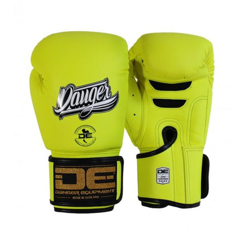 Boxing Gloves - Danger Neon Yellow Super Max Edition Kids Boxing Gloves