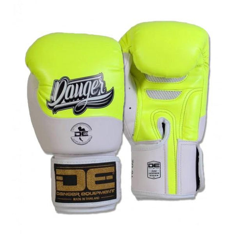 Boxing Gloves - Danger Neon Yellow / White Evolution Boxing Gloves