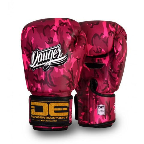 Boxing Gloves - Danger Pink Army Edition Boxing Gloves