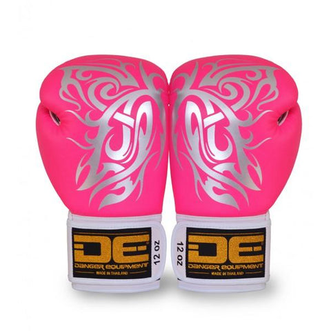 Boxing Gloves - Danger Pink / Silver Butterfly Edition Boxing Gloves