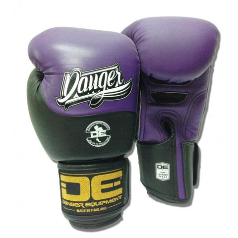 Boxing Gloves - Danger Purple / Black Evolution Boxing Gloves