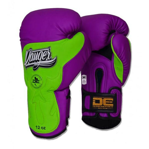 Boxing Gloves - Danger Purple / Green Ultimate Fighter Edition Kids Boxing Gloves