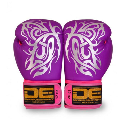 Boxing Gloves - Danger Purple / Silver Butterfly Edition Kids Boxing Gloves