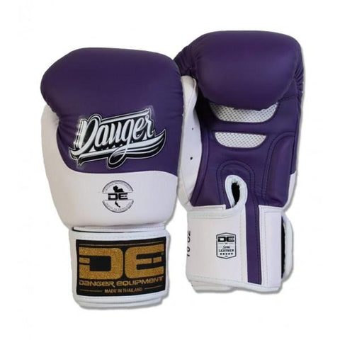 Boxing Gloves - Danger Purple / White Evolution Boxing Gloves
