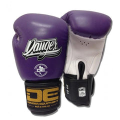 Boxing Gloves - Danger Purple / White With Black Cuff Classic Edition Kids Boxing Gloves