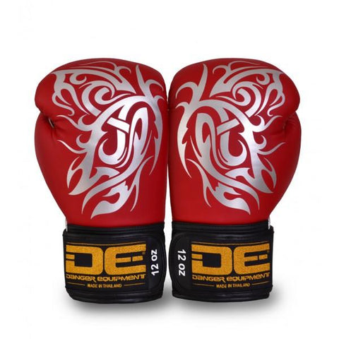 Boxing Gloves - Danger Red / Silver Butterfly Edition Boxing Gloves