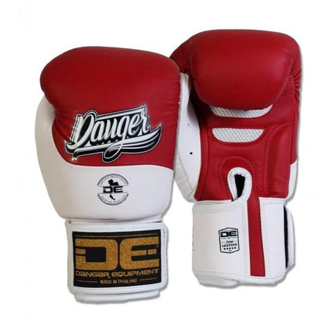 Boxing Gloves - Danger Red / White Evolution Boxing Gloves