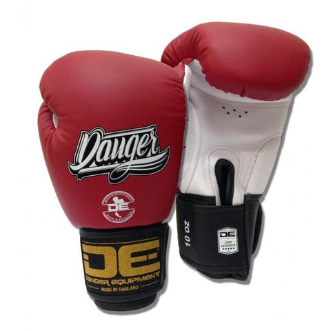 Boxing Gloves - Danger Red / White With Black Cuff Classic Edition Kids Boxing Gloves