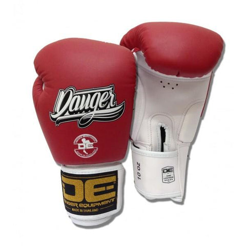 Boxing Gloves - Danger Red / White With White Cuff Classic Edition Boxing Gloves