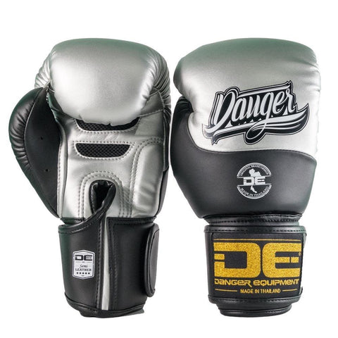 Boxing Gloves - Danger Silver / Black Evolution Boxing Gloves