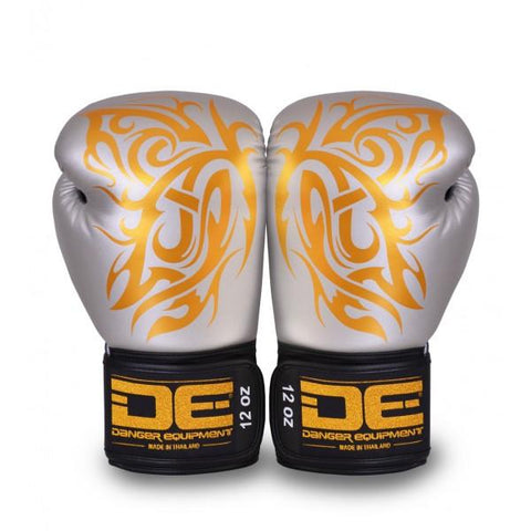 Boxing Gloves - Danger Silver / Gold Butterfly Edition Boxing Gloves