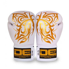 Boxing Gloves - Danger White / Gold Butterfly Edition Boxing Gloves