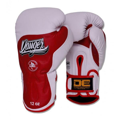 Boxing Gloves - Danger White / Red Ultimate Fighter Edition Boxing Gloves