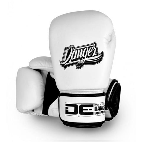 Boxing Gloves - Danger White Thai Legend Edition Kids Boxing Gloves