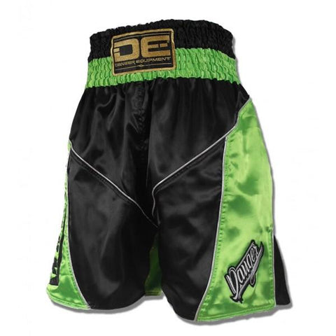 Boxing / K-1 Shorts - Danger Black / Green Boxing / K-1 Shorts