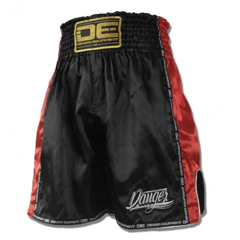 Boxing / K-1 Shorts - Danger Black With Red Trim Boxing / K-1 Shorts