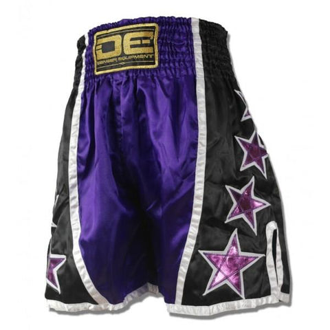 "Boxing / K-1 Shorts - Danger Purple / Black ""Stars"" Boxing / K-1 Shorts"