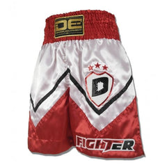 "Boxing / K-1 Shorts - Danger Red / White ""Fighter"" Boxing / K-1 Shorts"