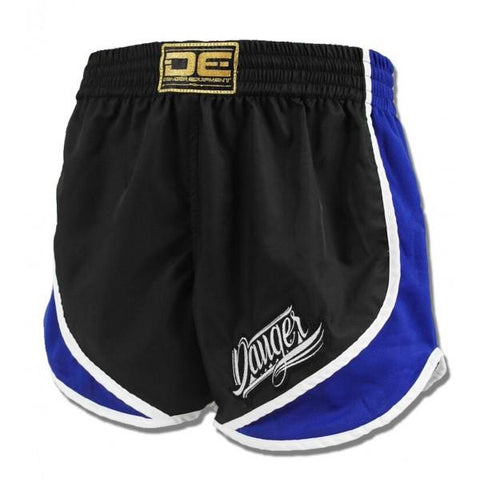High Cut Shorts - Danger Black With Blue Trim High Cut Shorts