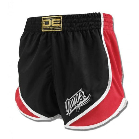 High Cut Shorts - Danger Black With Red Trim High Cut Shorts