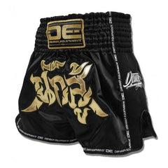 "Muay Thai Shorts - Danger Black ""Fighter"" With Microfibre Muay Thai Shorts"