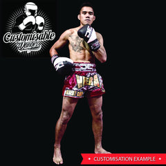 "Muay Thai Shorts - Danger Black ""Kick Boxing"" Muay Thai Shorts"