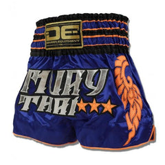 Muay Thai Shorts - Danger Blue / Orange Muay Thai Shorts