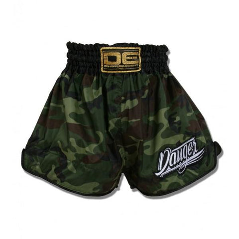 Muay Thai Shorts - Danger Camo Kids Muay Thai Shorts