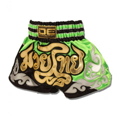 Muay Thai Shorts - Danger Green / Black Kids Muay Thai Shorts