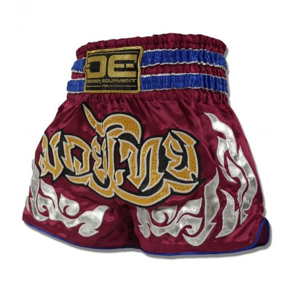 Muay Thai Shorts - Danger Maroon Muay Thai Shorts