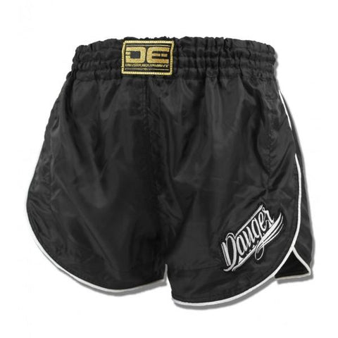 Retro Shorts - Danger Nylon Black Retro Shorts
