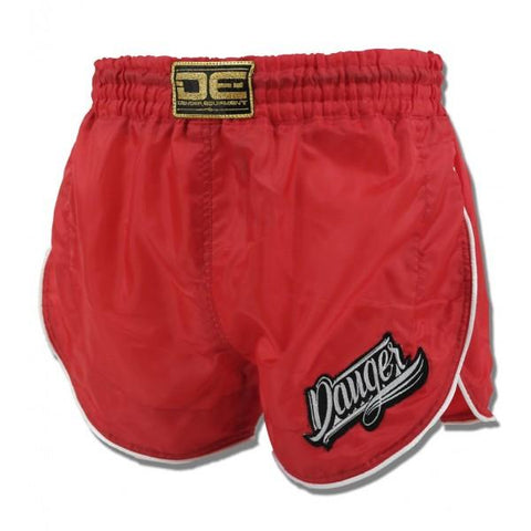 Retro Shorts - Danger Nylon Red Retro Shorts