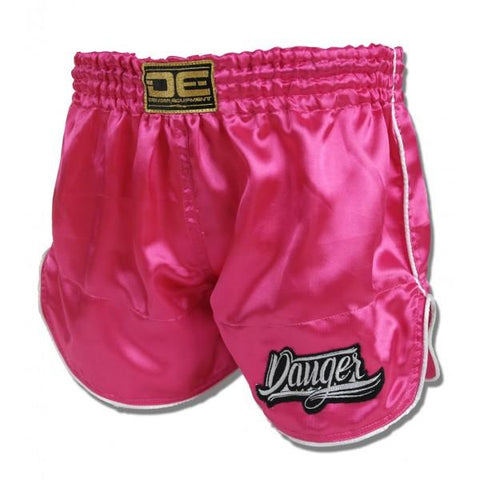 Retro Shorts - Danger Satin Pink Retro Shorts