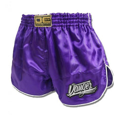Retro Shorts - Danger Satin Purple Retro Shorts